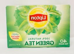 Lipton 100% Natural Green Tea 40 Tea Bags 2.12 oz  Exp. 08/2