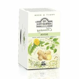 New !  20 Foil Tea bags Ahmad Tea Detox  Black Tea