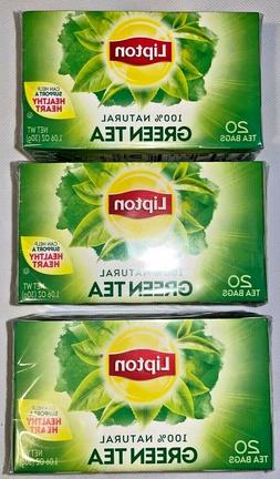3 Lipton 100% Natural Green Tea | 20 Tea Bags | 0 Calories |