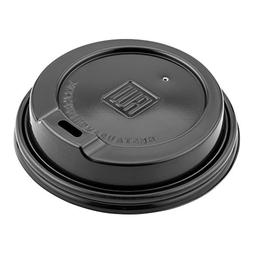 500-CT Disposable Black Lid for Coffee and Tea Cups - Fits 8
