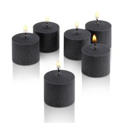 Black Votive Candles - Box of 12 Unscented Candles - 10 Hour