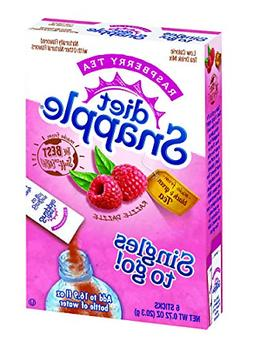 Diet Snapple Singles To Go Water Drink Mix - Raspberry Tea F