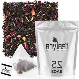 Tealyra - Lady Grey - 25 Bags - Delightful Black Loose Leaf