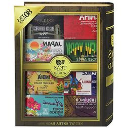 Teas of the World   80 Tea Bags Featuring 8 Unique Flavors w