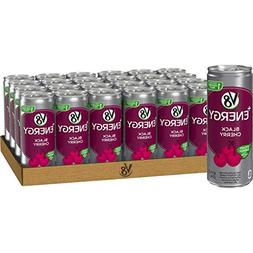 V8 +Energy, Juice Drink with Green Tea, Black Cherry, 8 oz.