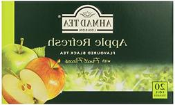 Ahmad Tea Apple Refresh Black Tea, 20-Count Tea Bags
