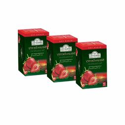 Ahmad Tea Black Flavored Strawberry 3 packs x 20 bags 120g/