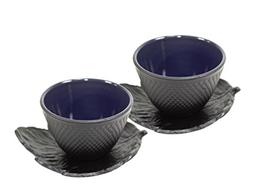 Black Polka Dot Hobnail Japanese Cast Iron Tea Cup Sets Teac