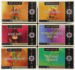Stash Tea Black Tea Six Flavor Assortment 18-20 Count Tea Ba