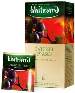 Greenfield BLACK TEA FESTIVE GRAPE Sealed BOX 25 US Seller I
