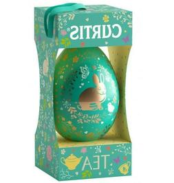 Black Tea in Egg Shaped Tin Gift Box Easter Bunny Ceylon Bla