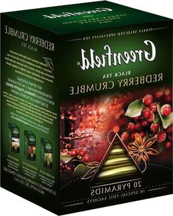 Black tea Greenfield Redberry crumble 20 pyramids per box, b