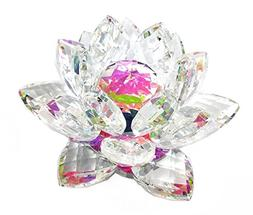 "6"" Centerpieces Crystal Lotus Candle Holder Display, Tealigh"