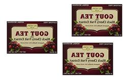 3 Pack - Only Natural Gout Tea Black Cherry Fruit Extract Ba