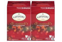 Twinings Christmas Tea, Keurig K-Cups, 12 Count Pods Black T