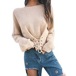 Clearance Sale! Women Long Sleeve Sweater Tops Daoroka Ladie