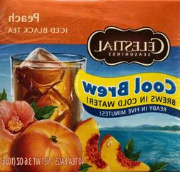 Celestial Seasonings Cool Brew Iced Tea Peach - 40 Tea Bags