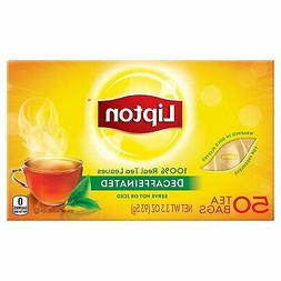 Lipton Decaffeinated Black Tea Bags, 50 ct