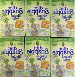 Diet Snapple Singles to Go Original Green Tea  SIX BOXES