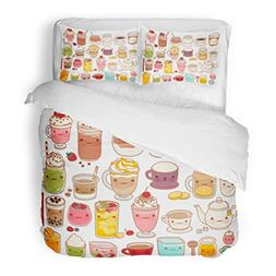 SanChic Duvet Cover Set Collection Lovely Hot Cold Drink Cut