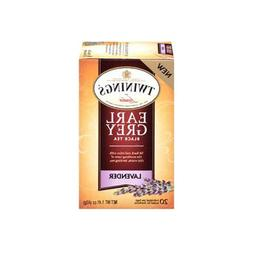 TWININGS EARL GREY BLACK LAVENDER TEA 20 Tea Bags