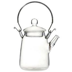 Elegant Glass Teapot Handle Heat Resistant For Blooming Oolo