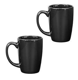 Endeavor Ceramic Coffee & Tea Mug, Black 14 oz