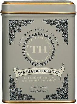 Harney & Sons ENGLISH BREAKFAST Tea 20 ct Sachets in Tin HT