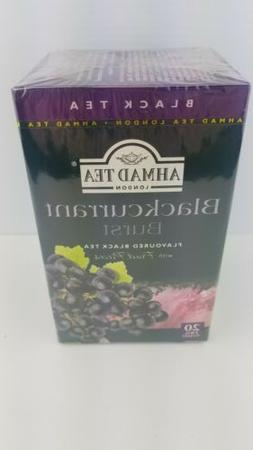 New ! 20 Foil Tea bags Ahmad Tea Blackcurrant Burst Black Te