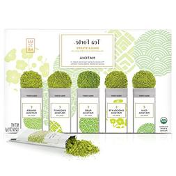 Tea Forté SINGLE STEEPS Organic Matcha Powder Green Tea Sam