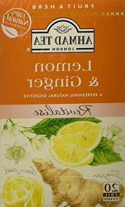 Ahmad Tea - Lemon & Ginger Tea Infusion 20 Bags - 40g
