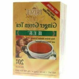 Prince Gold Tea, Ginger Green, 16 Tea Bags