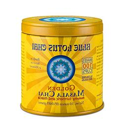 Blue Lotus Golden Masala Chai - Makes 100 Cups - 3 Ounce Mas