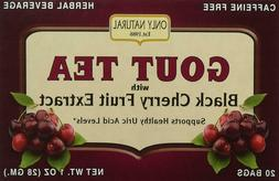Only Natural Gout Tea Black Cherry Fruit Extract Bags, 20 Co