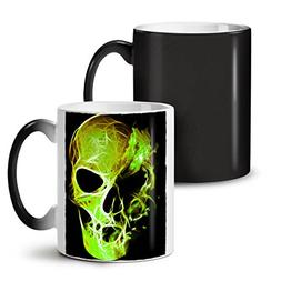 Green Flame Death Skull War Devil Black Colour Changing Tea