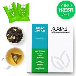 Teabox Green Tea Mix Pack | 4 Varieties of THE FINEST Green