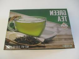 GREEN TEA WITH TAG STRING 100 BAGS FACTORY SEALED