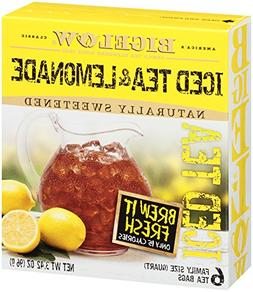 Bigelow Half Iced Tea & Half Lemonade, Quart Bags, 6 pk, .57