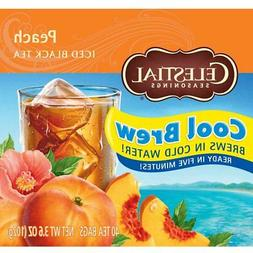 Celestial Seasonings Iced Tea, Peach Cool Brew, 40 Count