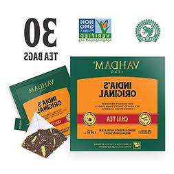 India's Original Masala Chai Tea Bags, 30 TEA BAGS, 100% NAT