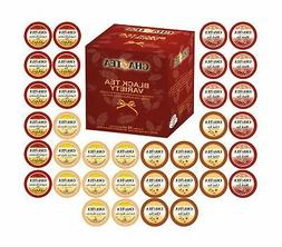 Cha4TEA 36-Count K Cups Assorted Black Tea Sampler for Keuri
