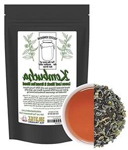 Kombucha Loose Leaf Black and Green Tea 50/50 Blend, 120 Ser
