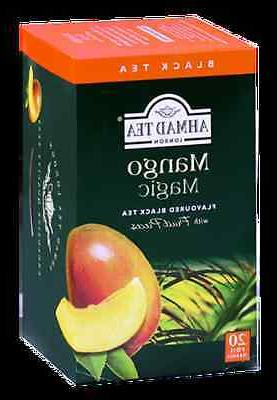 New !  20 Foil Tea bags Ahmad Tea Mango Magic Black Tea with