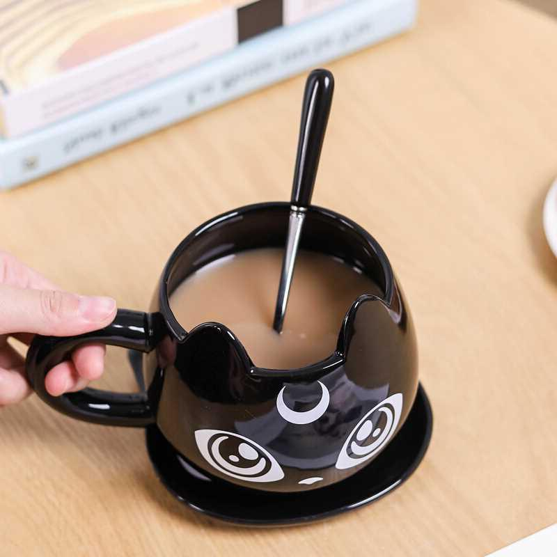 2019 New Creative Cat Ceramics Kids <font><b>Breakfast</b></font> Cartoon Office Afternoon Mug