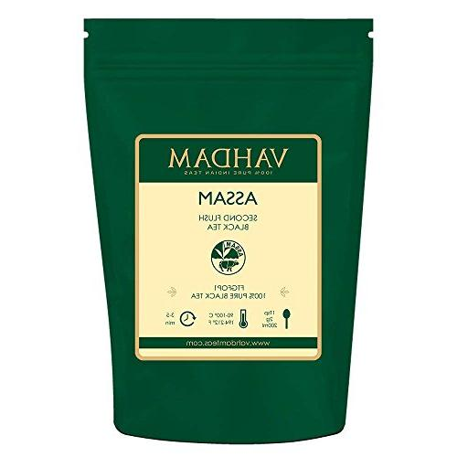 Assam Tea , RICH, Loose Tea, 100% Origin Black Loose Leaf, Brew Hot Iced Tea, Tea, FTGFOP1 Leaf Grade, 16oz