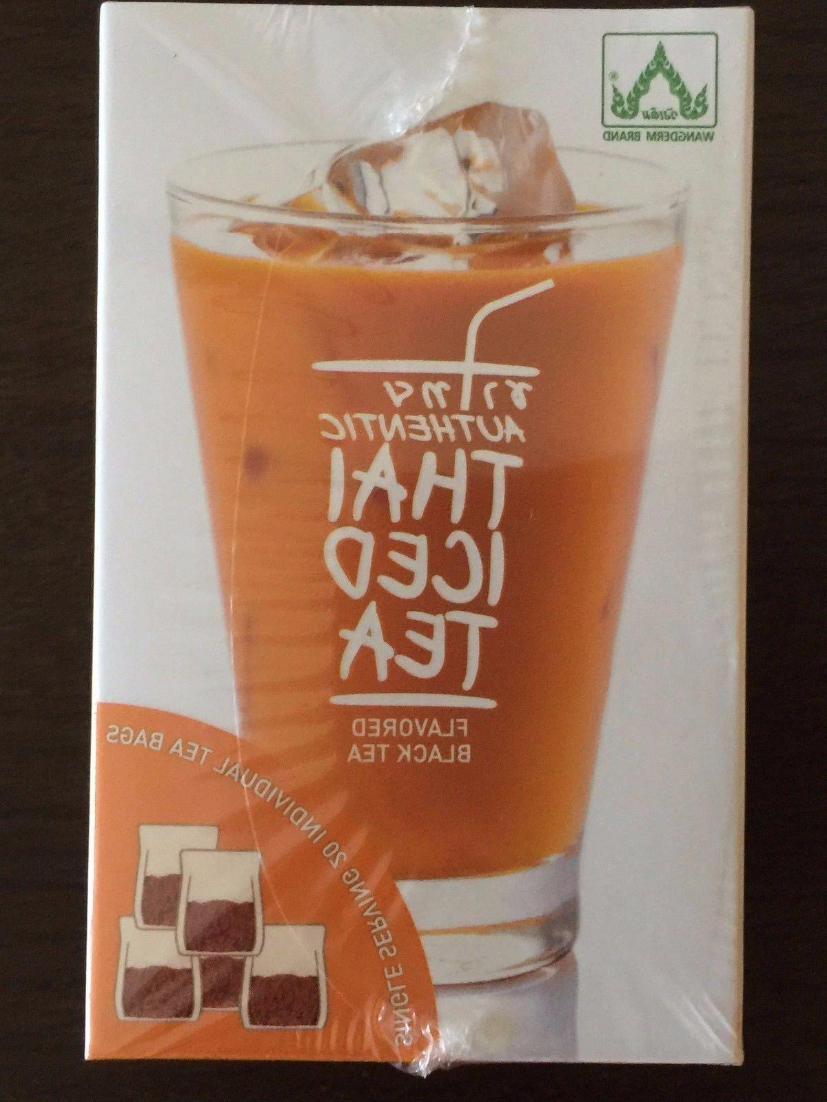 Authentic Thai Iced Tea Flavored Black Tea,20 tea bags New