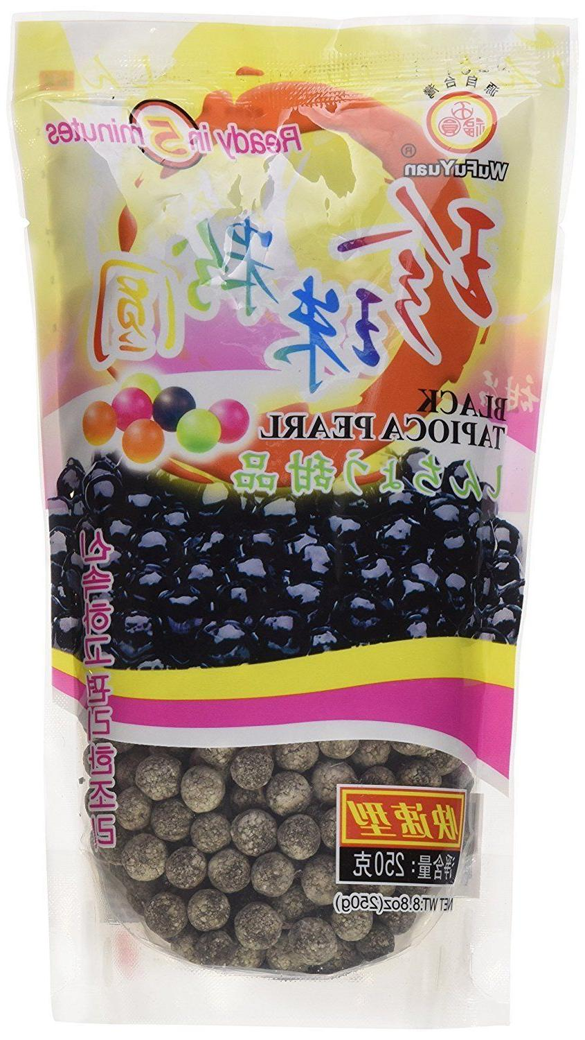 black tapioca pearls boba bubble tea ready