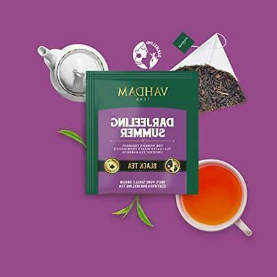 Vahdam, Black Tea 5 Teas - Variety Pack Bags Assam, 20