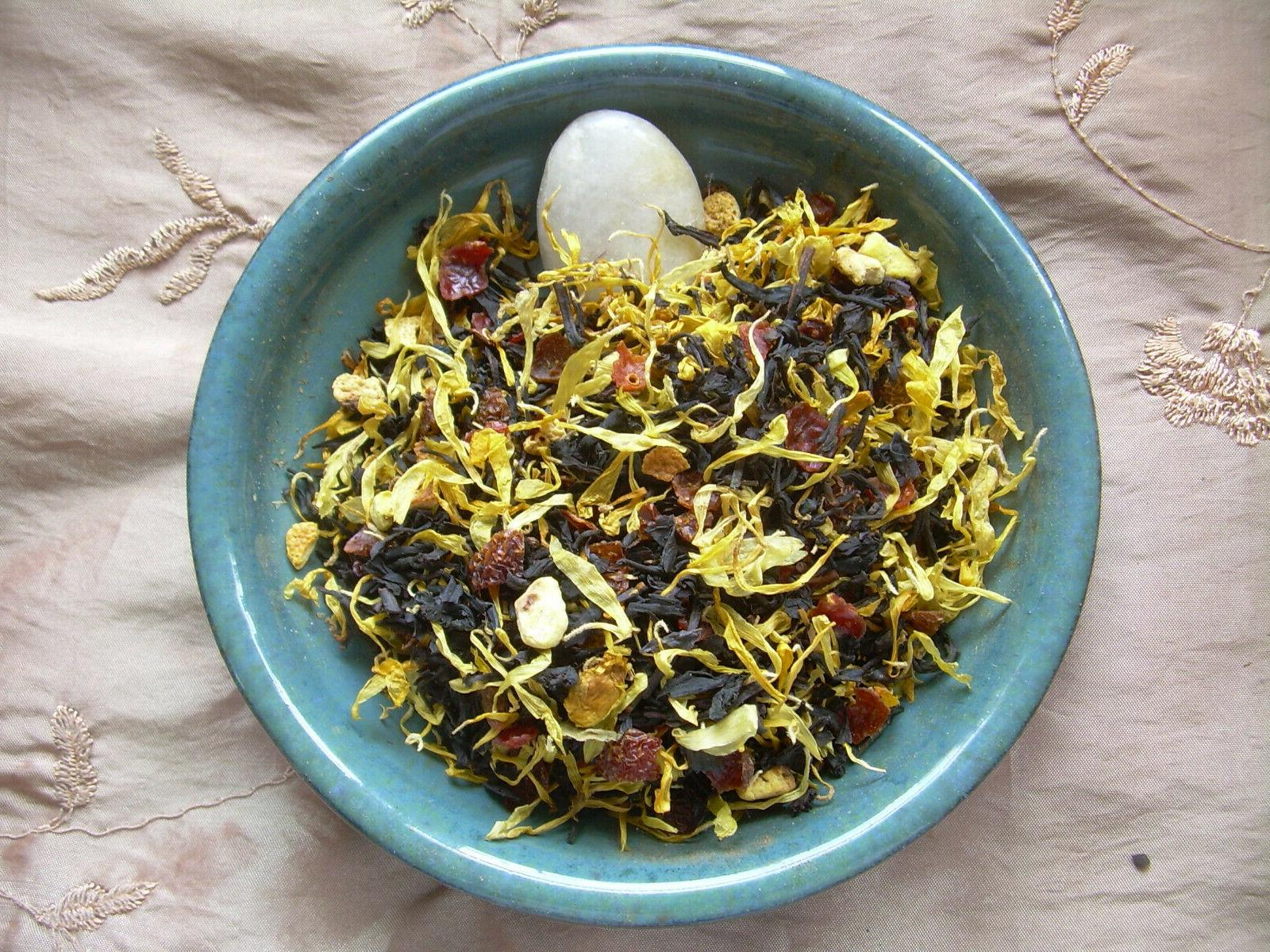 Blood Orange Loose Aged Tea Blend Rose Calendula