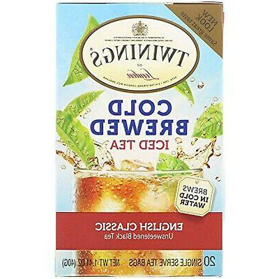 Twinings Cold Brew Tea, English Classic, 20 Count Bagged Tea